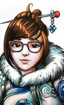 Overwatch Mei Detail by D-Cranford