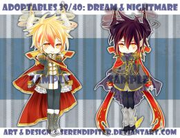 [CLOSED] Adoptables 39/40: Dream + Nightmare by Staccatos