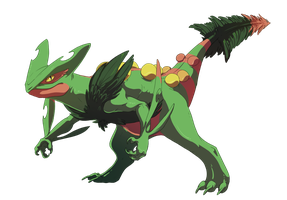 Mega Sceptile by Silverbirch