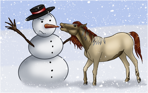 Why do horses like winter? by Valvador