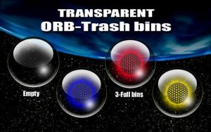 transparent -Orb Trash bins by victor1410