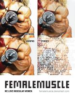 FemaleMuscle Poster by areaorion