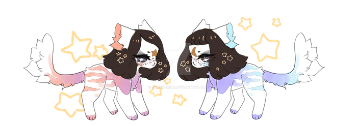 Pastel Twins auction open AB ADDED by SweetuMilk