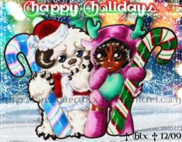Happy Holidays 2009 Ver 1 by TonomuraBix