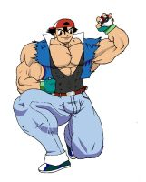 ash muscled by chocomus