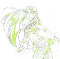 Starfire New Sketch by erohd
