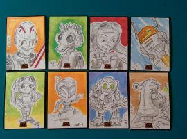 Star Wars Rebels Sketch cards 2 by artyewok