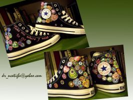 Murano design on Converse by alcat2021