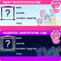 FiM: Pony ID Card Template by M24Designs