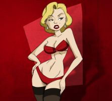 Marilyn Monroe pin-up C by nnymed
