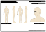 RWBY Male Character Sheet by ShadeofGrimm