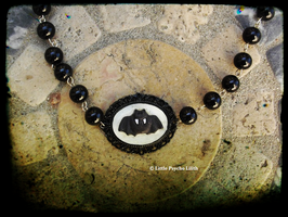 Bat Cameo necklace only one piece FOR SALE by Little-Psycho-Lilith