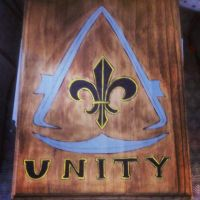 Woodburned Assassin's Creed: Unity slate by chui92