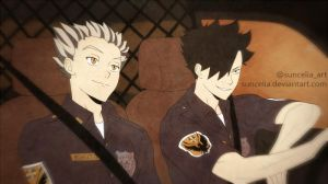 Haikyuu!! Bokuto and Kuroo Preview by Suncelia