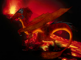 Fire, Dragon Series by LivingAliveCreator