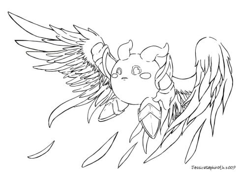 Galacta Knight Lineart by JessySketches