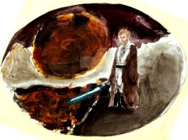 Obi-wan on Mustafar by AnakinJones
