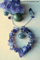 Amethyst and Labradorite Necklace by Forbiddenynforgotten
