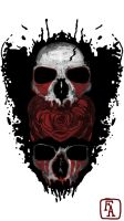 Red Paint Skull by Forknest