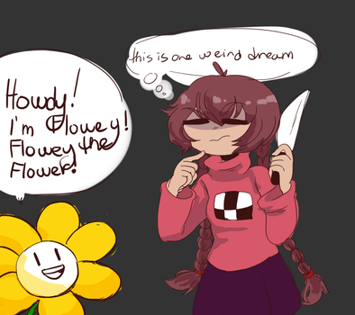 Madotsuki In Undertale I Guess by manashiku
