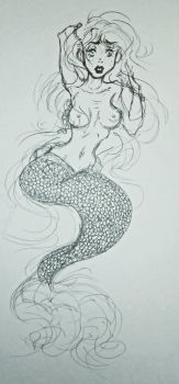 Mermaid Sketch by AlexaXVMichaelis