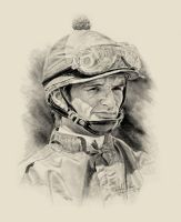 Horse Racing Jockey Pat Day by Paluso4art