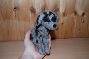 Needle felted great dane by Pawkeye