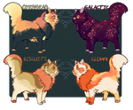 fluffy cat adoptables - $7 each by Bl1zzy