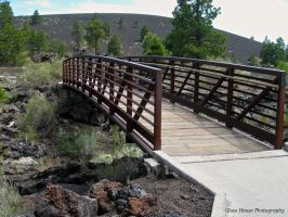 Bridge Over Lava Flow by GlassHouse-1