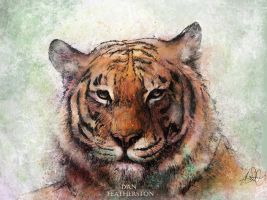 Tiger Painting by DanFeatherston