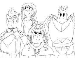 Fullmetal Eddsworld (Uncolored) by Guardian-of-Legends