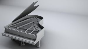 Steinway and Sons Baby Grand Piano by bewsii