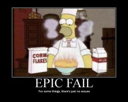 only homer could set cereal on fire with milk! by liamda1