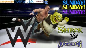 Shrek vs sonic WWE by Theogrelord420