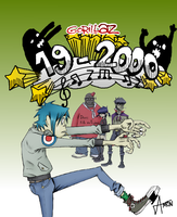 Gorillaz 19-2000 Single by xAm0n12x