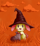 Halloween Plusle by jkz123pl