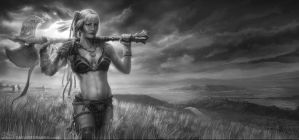 Tam: Barbarian Warrior by ConceptSparks