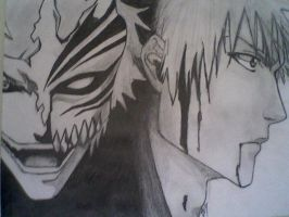 Two faces of Ichigo by NickleTurtle
