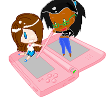 Chibi nintendo DS Collab With Coolterra342 by Penguinanthrogirl99