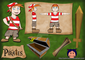 Uni Project - Little Pirates Poster Board by SalmirAeon