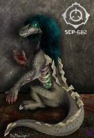 SCP-682 The Hard To Destroy Reptile by SilverUrufu