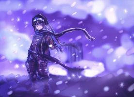 boy in the snow by KaNoir