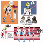 Power Girl is flat chested by TikiTako
