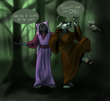 COMMISSION: No Pants Halloween by Rehgan