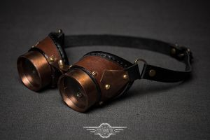 Steampunk copper goggles Blair by LahmatTea