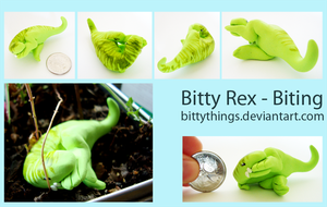 Bitty Rex - Biting by Bittythings