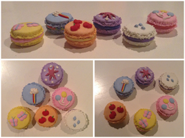 My Little Pony Macarons : Polymer Clay by AbsurdGenius