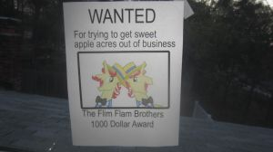 Flim and Flam on a wanted poster by MetalGriffen69