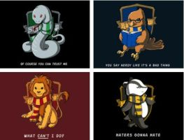 The Hogwarts Houses by moonrays64
