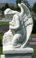 Mount Olivet Cemetery Angel 224 by Falln-Stock